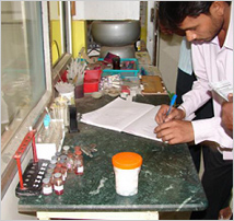 medical test lab